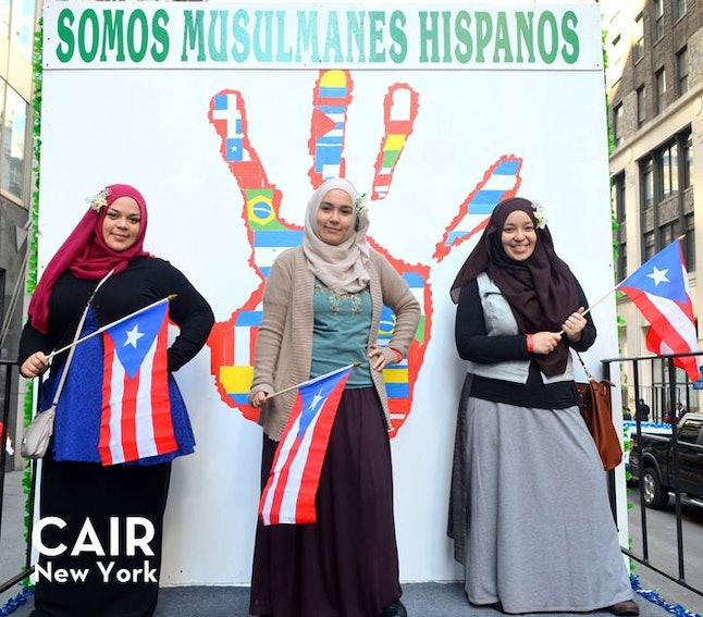 Latino Muslims celebrate at the Hispanic Day Parade
