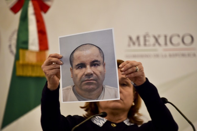 Mexican officials search for escaped drug lord El Chapo.
