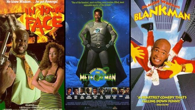 'Abar, the First Black Superman' (1977); 'Meteor Man' (1993); 'Blankman' (1994).