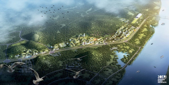 The forest city will be 175 hectares.