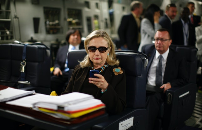 """Hillary Clinton emailed on up to 13 mobile devices, despite once claiming she wanted the """"convenience"""" of only one."""
