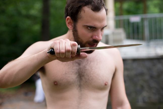 Actor Jake Austin Robertson, who portrays Hamlet, says he isn't nervous about having to strip down.