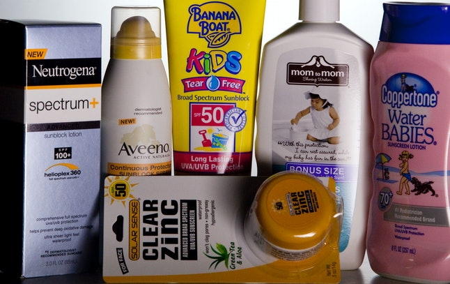 The sunscreen aisle is overflowing with options.