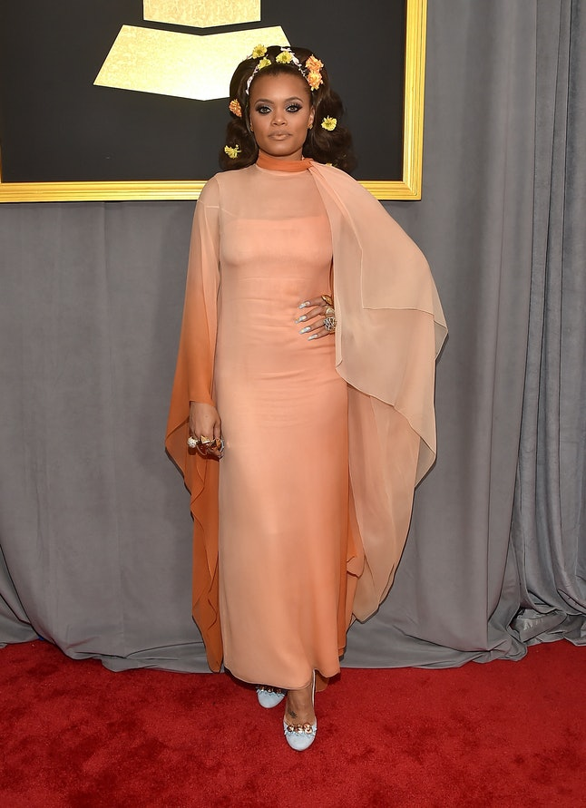 Andra Day attends The 59th GRAMMY Awards at STAPLES Center on February 12, 2017
