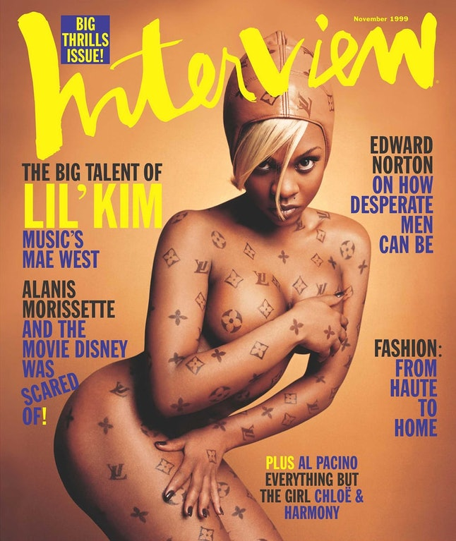 Lil' Kim on the cover of 'Interview'