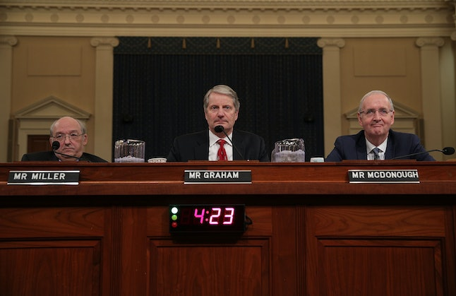 From left, resident fellow Thomas Miller of American Enterprise Institute, senior fellow John Graham of the National Center for Policy Analysis and professor of practice Dr. John McDonough of Department of Health Policy and Management at Harvard TH Chan School of Public Health.