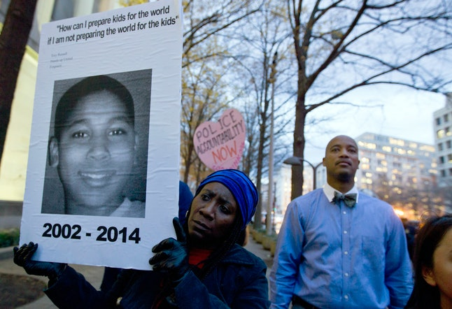 Protest in support of justice for Tamir Rice