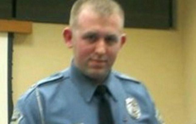 Officer Darren Wilson in an undated photo.