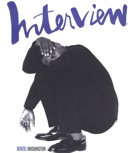 Denzel Washington on the cover of 'Interview'