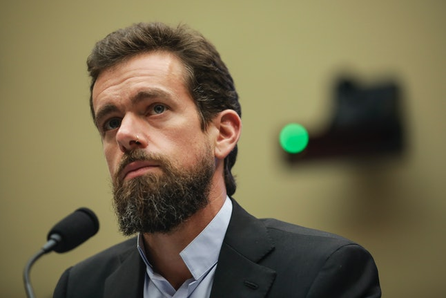 Twitter chief executive officer Jack Dorsey testifies during a House Committee on Energy and Commerce hearing about Twitter's transparency and accountability.