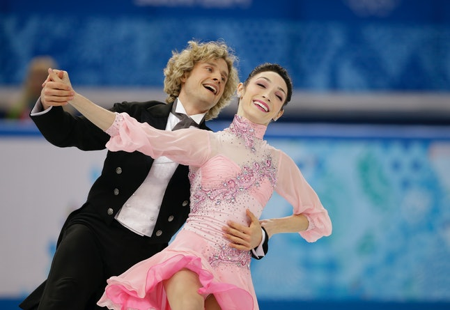 Meryl Davis and Charlie White at the 2014 Olympics