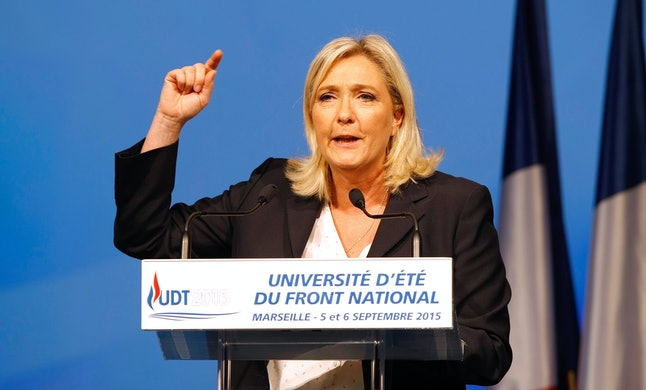 Marine Le Pen, leader of France's far-right National Front party