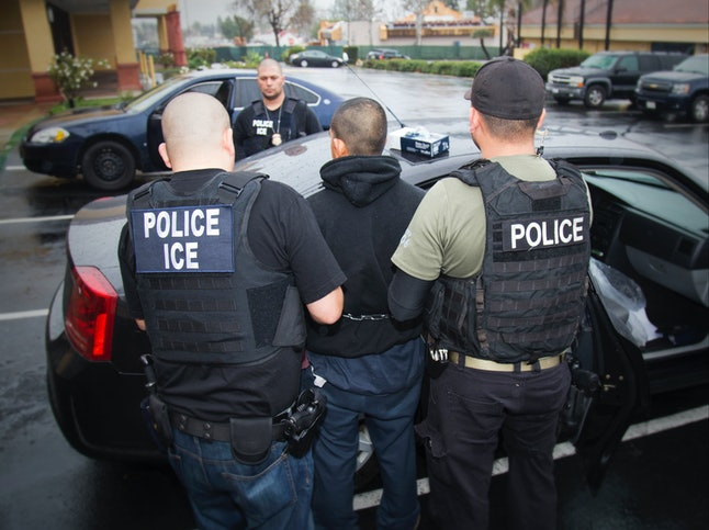 Foreign nationals are arrested during a Feb. 7 targeted enforcement operation conducted by U.S. Immigration and Customs Enforcement.