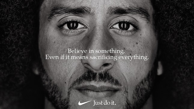 """Colin Kaepernick in Nike's 30th anniversary """"Just Do It"""" campaign"""