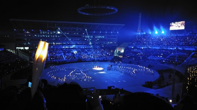 A view of the Opening Ceremonies.