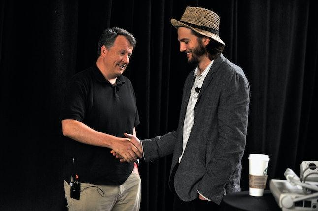 Paul Graham with Ashton Kutcher