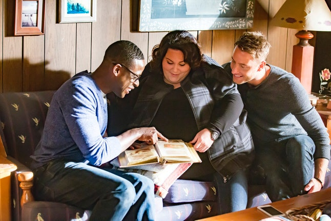 Sterling K. Brown, Chrissy Metz and Justin Hartley in 'This Is Us'