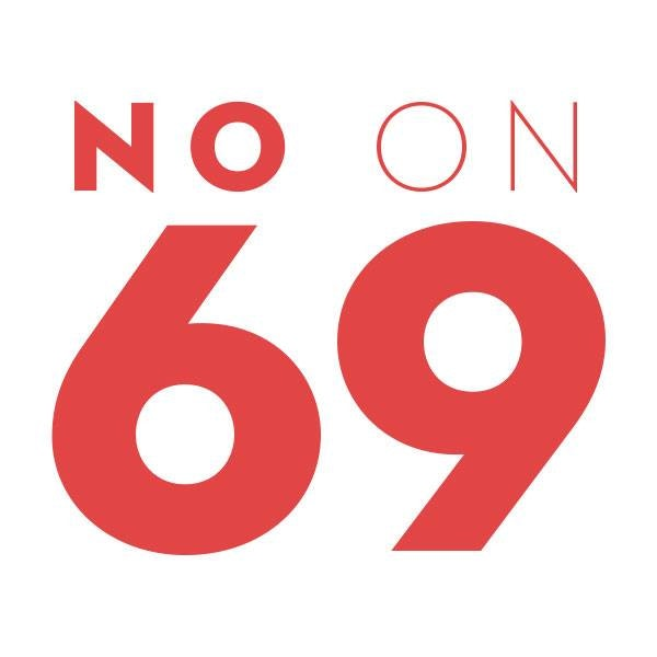 The logo for No On Amendment 69, a group opposed to Colorado's single payer healthcare proposal.