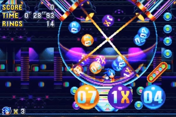 The special bingo area in 'Sonic Mania' where you can find the Easter Eggs.
