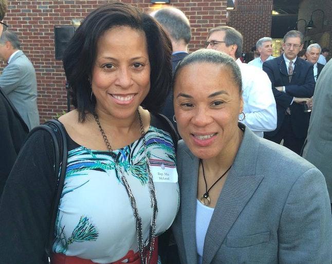 Rep. Mia McLeod (left)