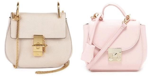 Chloé Drew Handbag (L); Forever 21 Faux Leather Lock Crossbody Bag (R)