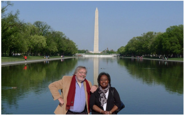 Edith Lee-Payne with Roland Scherman, the photographer who captured the iconic image of her as a 12-year-old at the March on Washington.