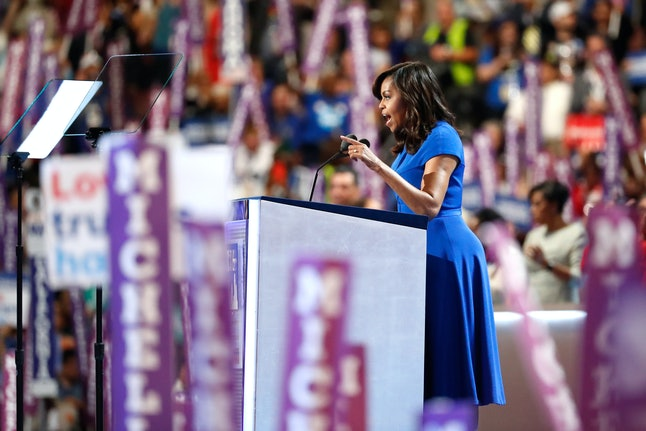 Michelle Obama speaks at the opening night of the DNC.