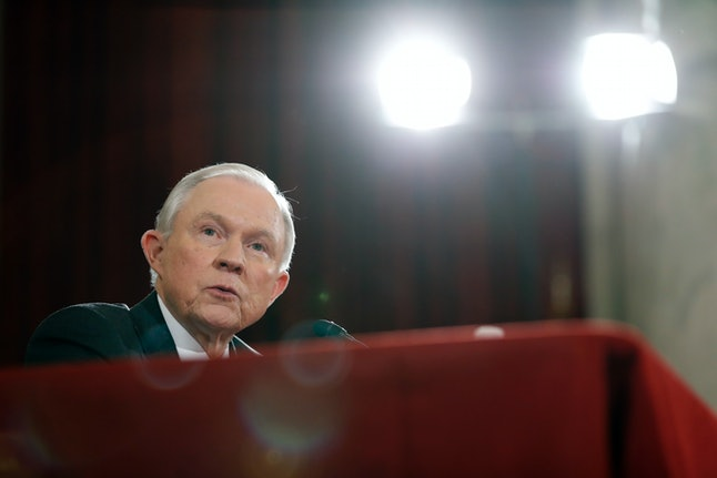 Jeff Sessions testifies in his attorney general confirmation hearing before the Senate Judiciary Committee.