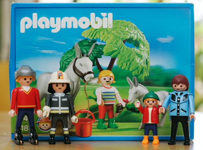 Toys by German toy maker Playmobil, pictured on Thursday, Feb. 7, 2008.