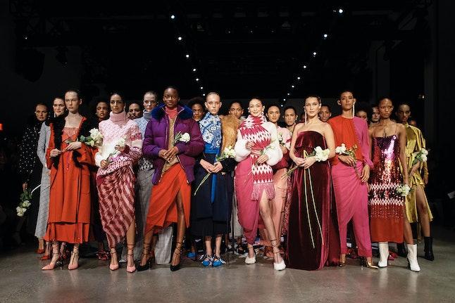 Models at the Prabal Gurung show at NYFW