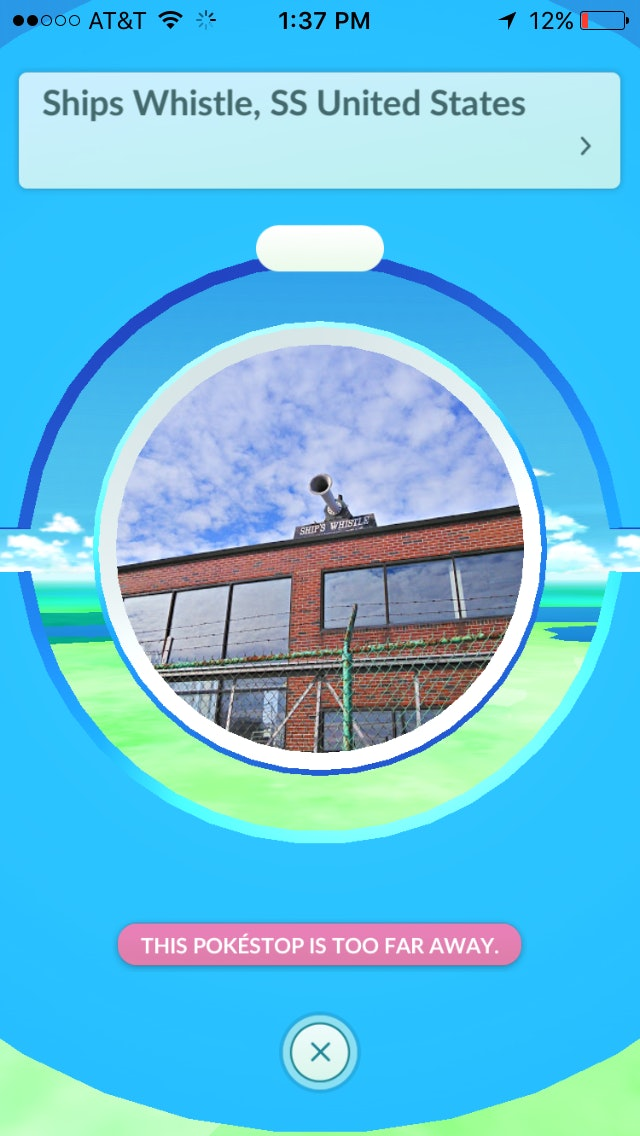 """Photo Discs in Pokémon Go appear on a PokéStop's detail screen. If you slide your finger across the photo and """"spin"""" it, you earn supplies with which to play the game."""