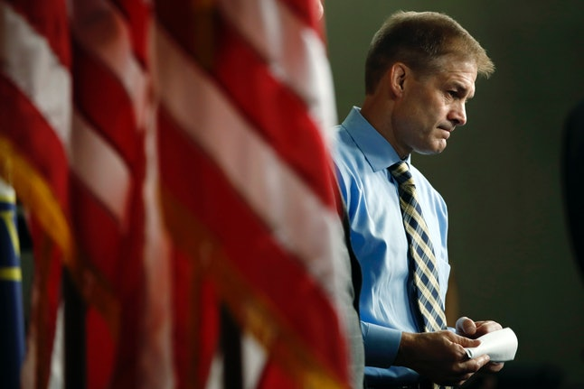 Jim Jordan attends a news conference in May.