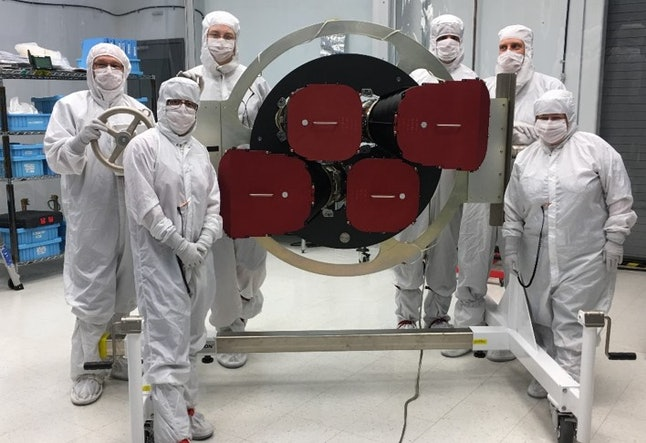 The TESS cameras, completed and ready to be installed.