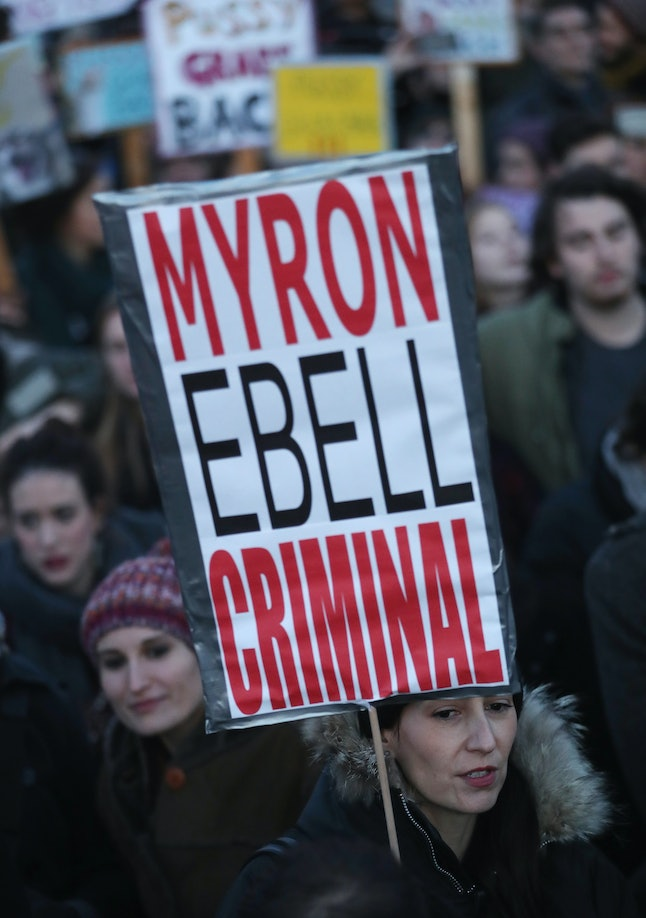 Protestors in Berlin rally against Donald Trump and proposed EPA head Myron Ebell.