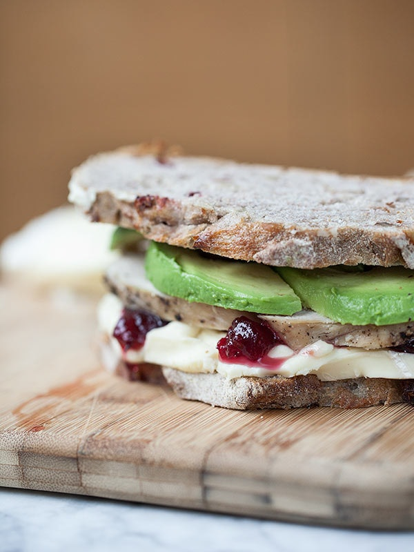 Grilled turkey and brie
