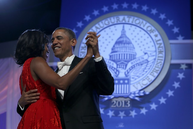 President Obama and First Lady Michelle Obama at the Inaugural Ball in 2013.