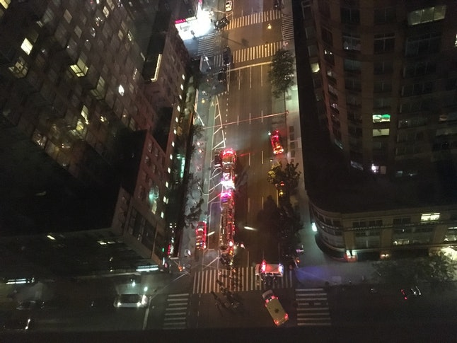 A view of 26th Street and 6th Avenue in Manhattan