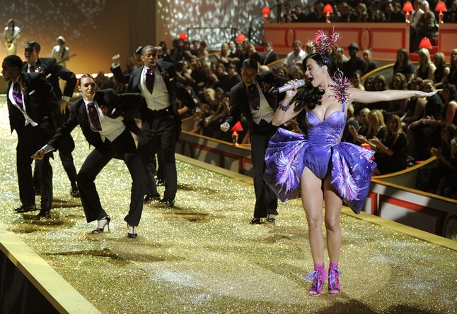 Katy Perry performing at the 2010 VS Fashion Show