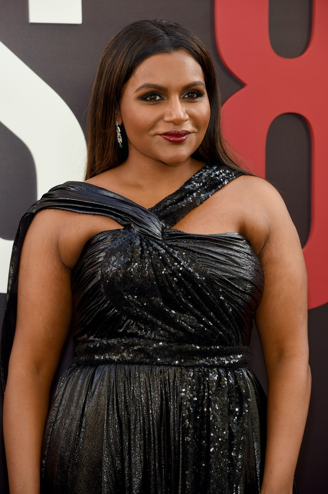 Mindy Kaling attends the world premiere of 'Ocean's 8'