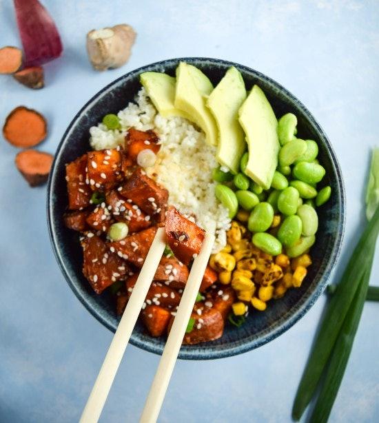Teriyaki cauliflower rice bowl