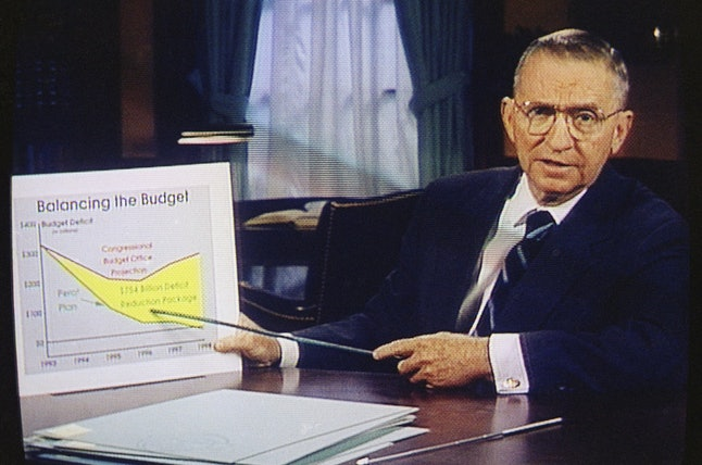 In this October 1992 photo, Ross Perot is shown during one of his infomercials. He was the last third-party presidential candidate to draw more than 5% support among voters at the polls.