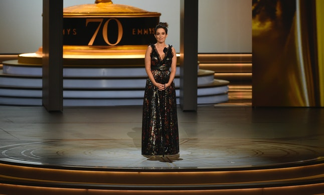 Tina Fey introduces the In Memoriam tribute at the 70th Primetime Emmy Awards on Monday, Sept. 17, at the Microsoft Theater in Los Angeles.