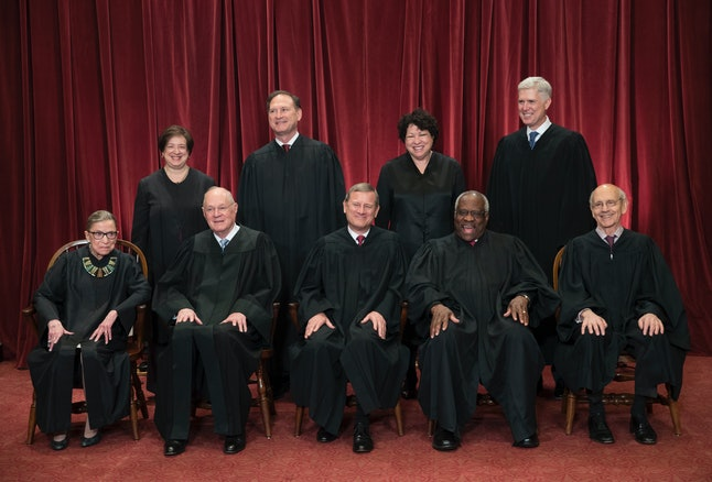 The justices of the U.S. Supreme Court in June 2017.