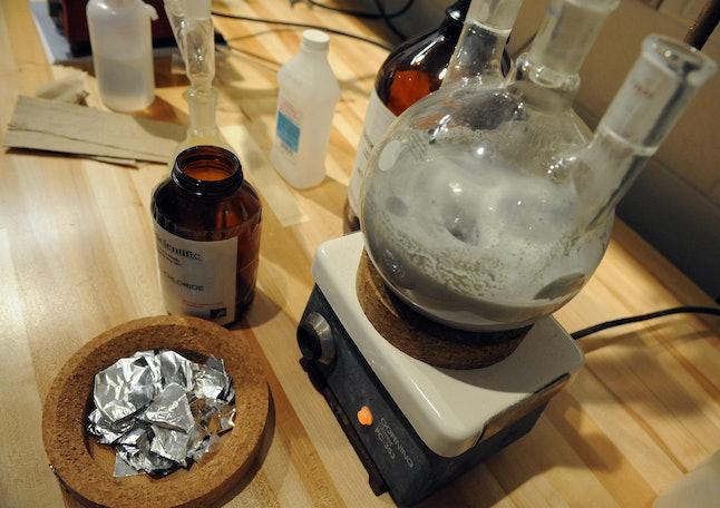 A mock ecstasy lab