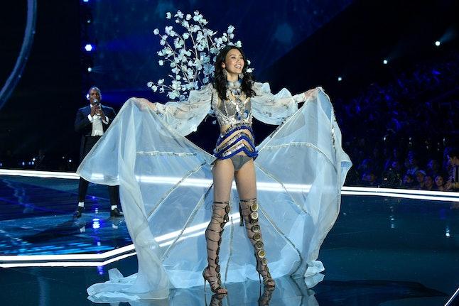 Ming Xi at the 2017 Victoria's Secret Fashion Show