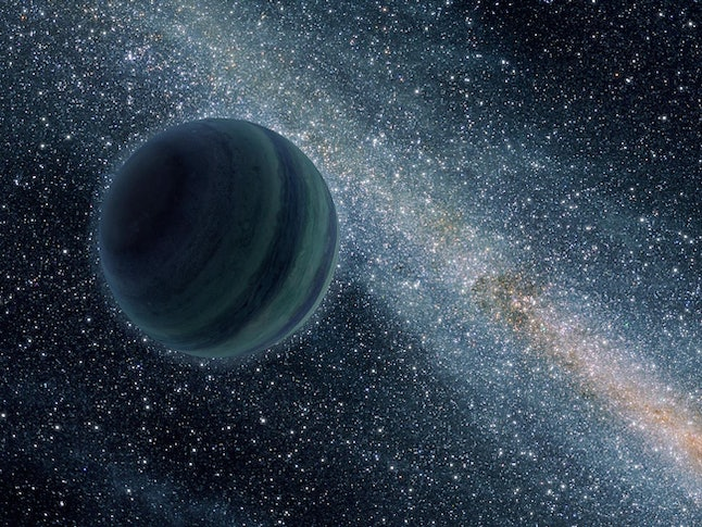 Artist's rendering of a Jupiter-sized lonely planet