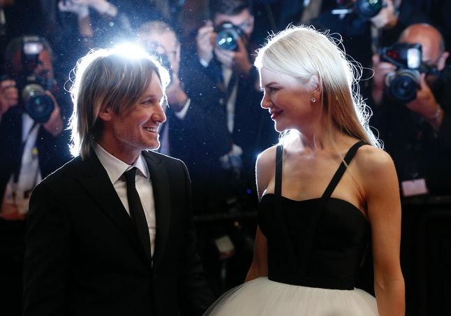 Actress Nicole Kidman and her husband Keith Urban after the screening of the film 'The Killing Of A Sacred Deer' at Cannes.