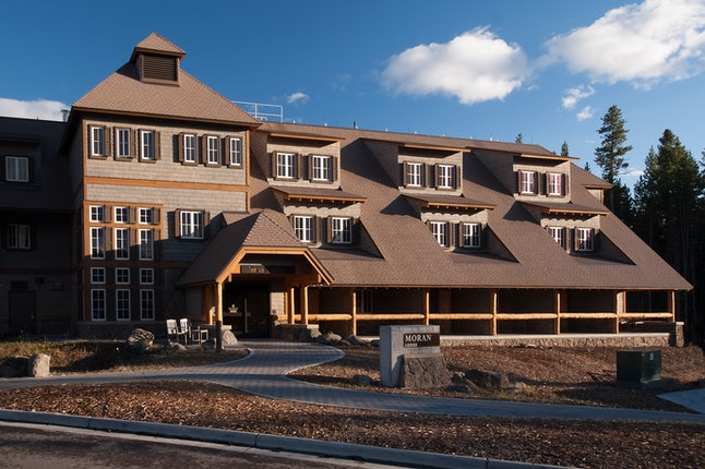 The Moran lodge, one of the new lodges in Yellowstone National Park
