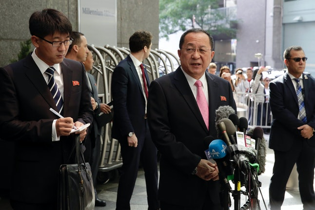 North Korea's Foreign Minister Ri Yong Ho said Trump has declared war on the Hermit Kingdom.