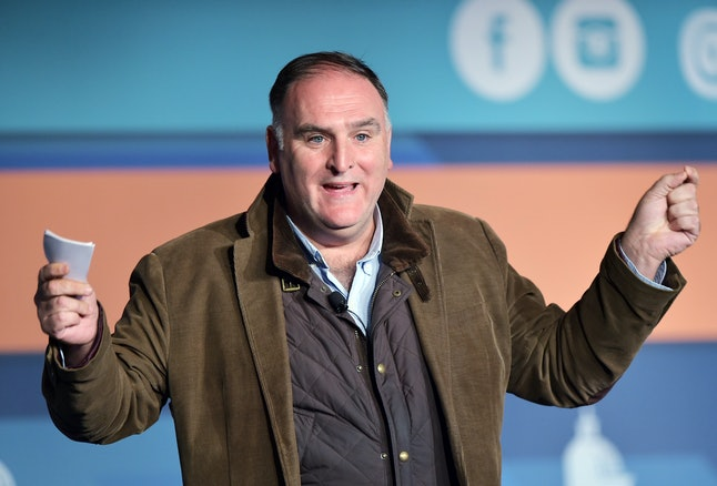 Chef and restaurant owner José Andrés speaks on immigration during the Congressional Hispanic Caucus Institute in Washington in 2015.